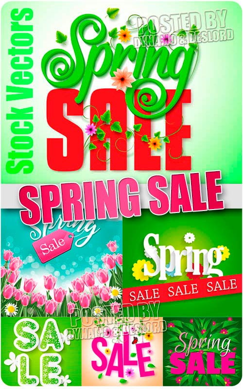Spring sale - Stock Vectors