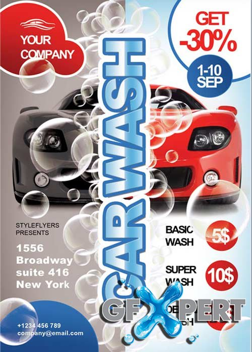 Free Car Wash Flyer Psd Template Download