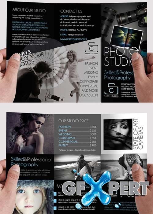 Free Photographer Tri Fold Psd Brochure Template