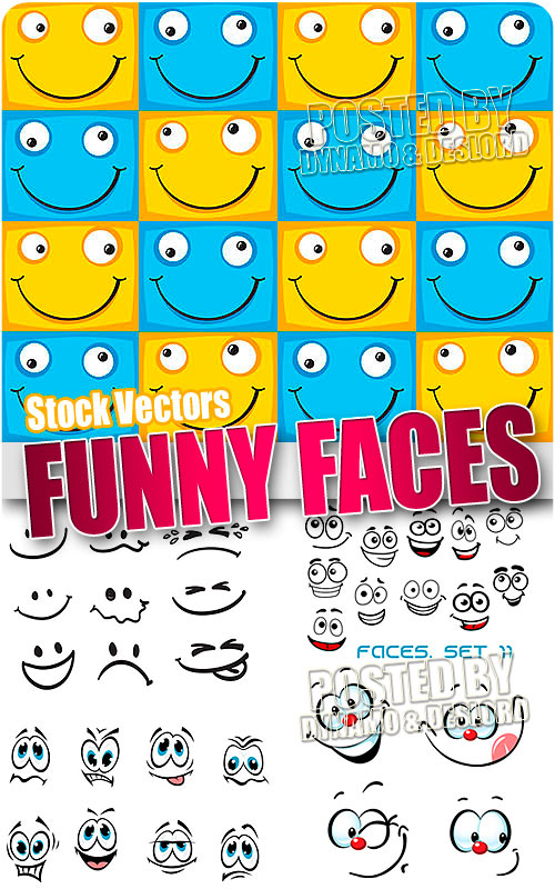 Funny faces - Stock Vectors