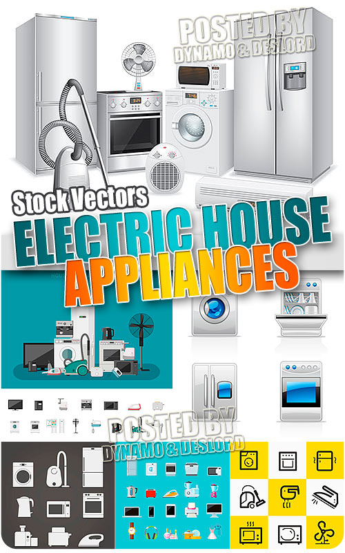 Electric house appliances - Stock Vectors