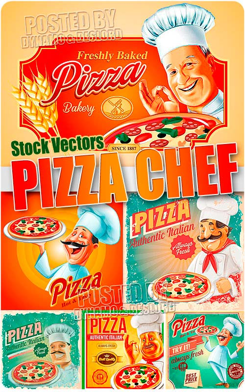 Pizza chef - Stock Vectors