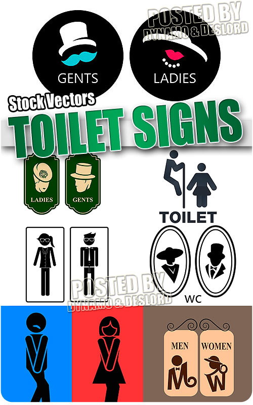 Toilet signs - Stock Vectors