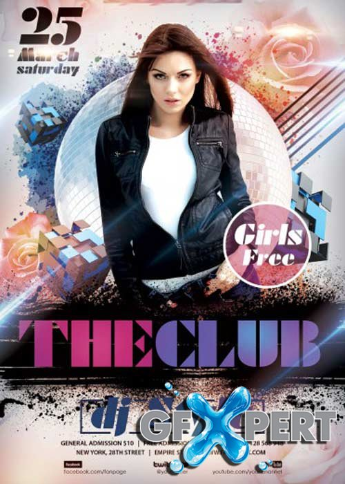 The Club Flyer PSD Template + Facebook Cover