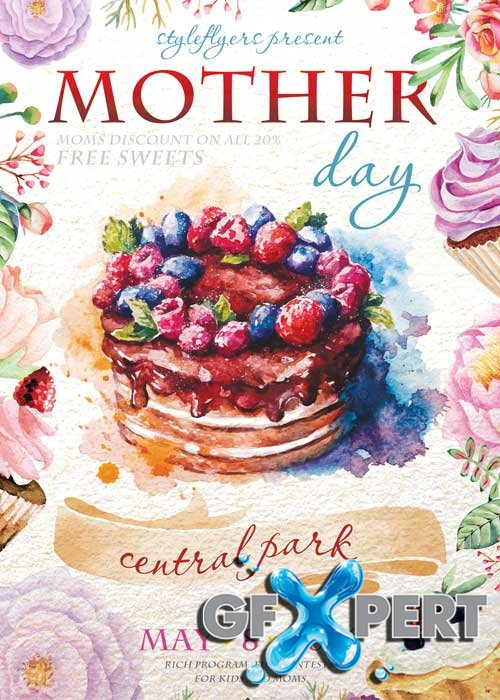 Mother Day PSD Flyer Template