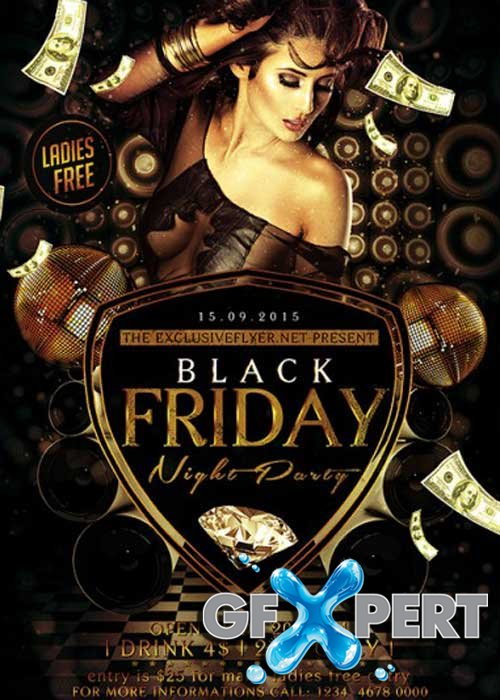 Black Friday V7 Premium Flyer Template + Facebook Cover