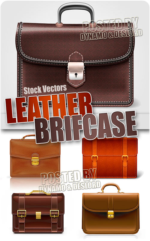 Leather briefcase - Stock Vectors