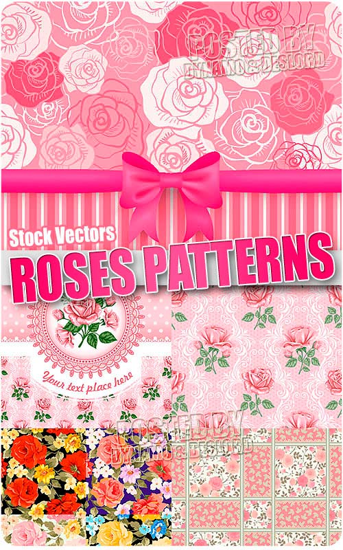 Roses patterns - Stock Vectors