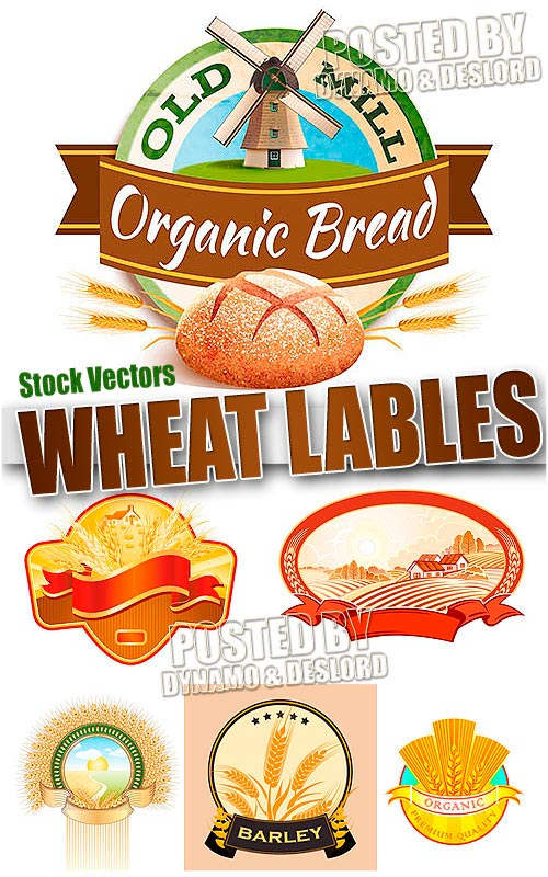 Wheat lable - Stock Vectors