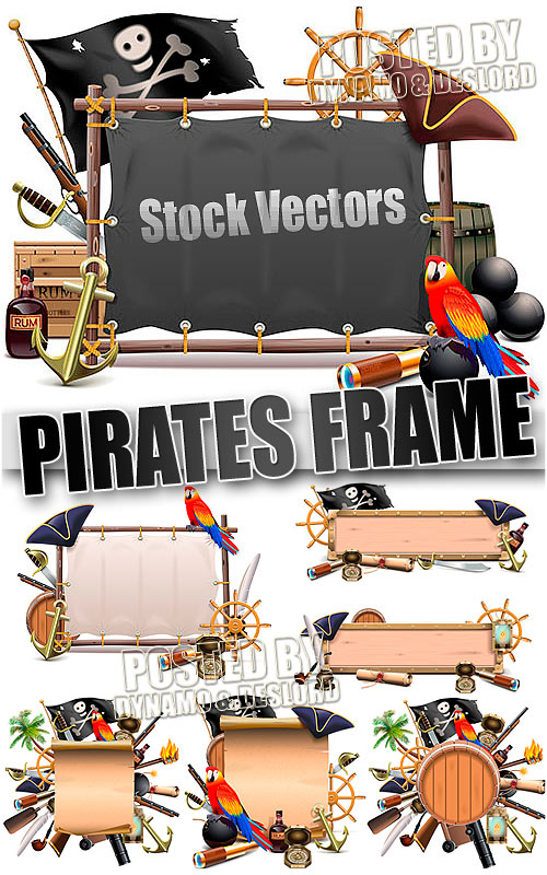 Pirates Frame - Stock Vectors
