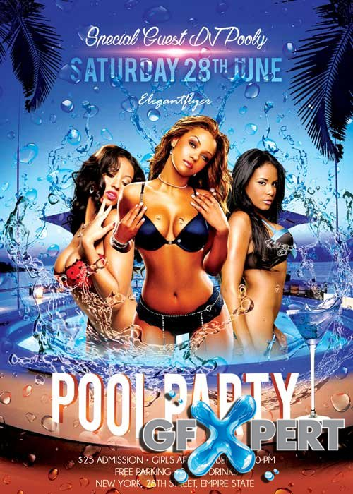 Pool Party V02 Flyer PSD Template + Facebook Cover