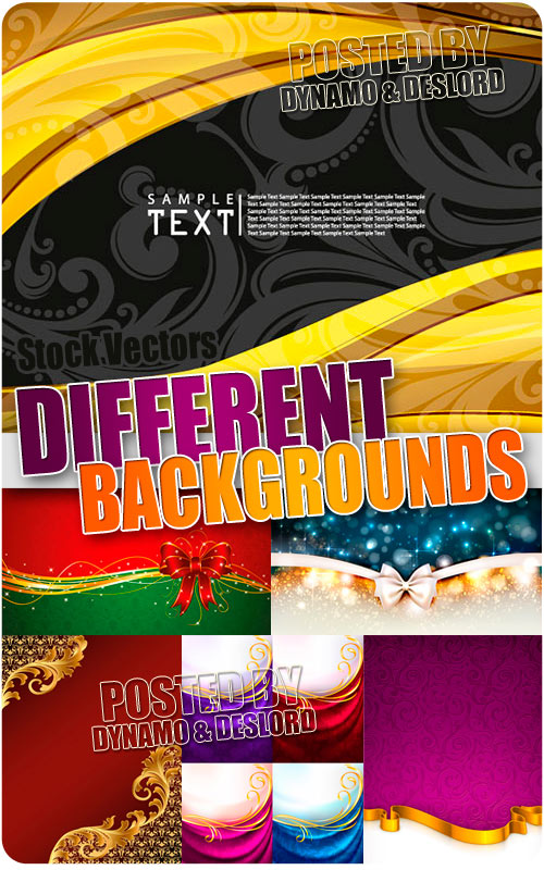 Differnt backgrounds and colors - Stock Vectors