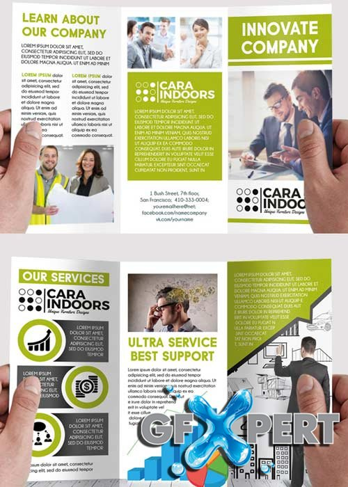 Corporate PSD Tri-Fold PSD Brochure Template