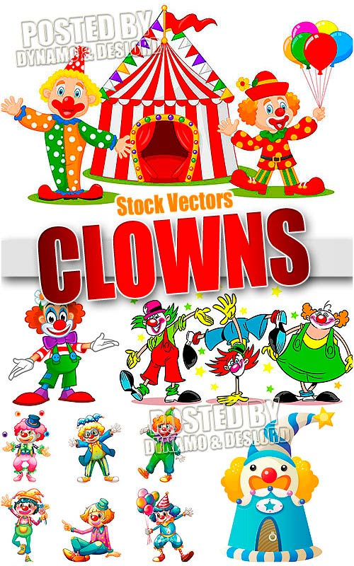 Clowns - Stock Vectors