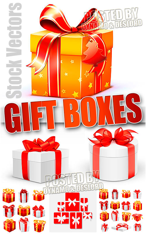 Gift boxes - Stock Vectors