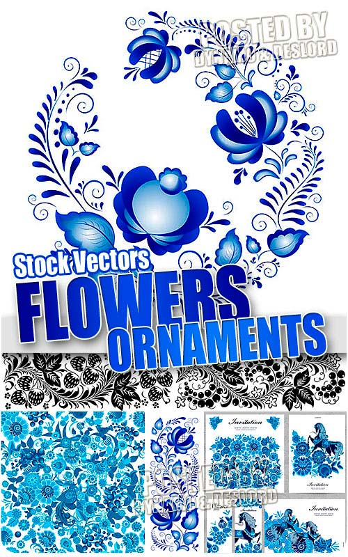 Flower ornaments - Stock Vectors