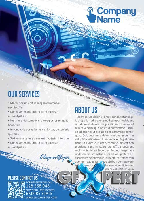 Free Computer Technology Flyer Psd Template  Facebook Cover Download