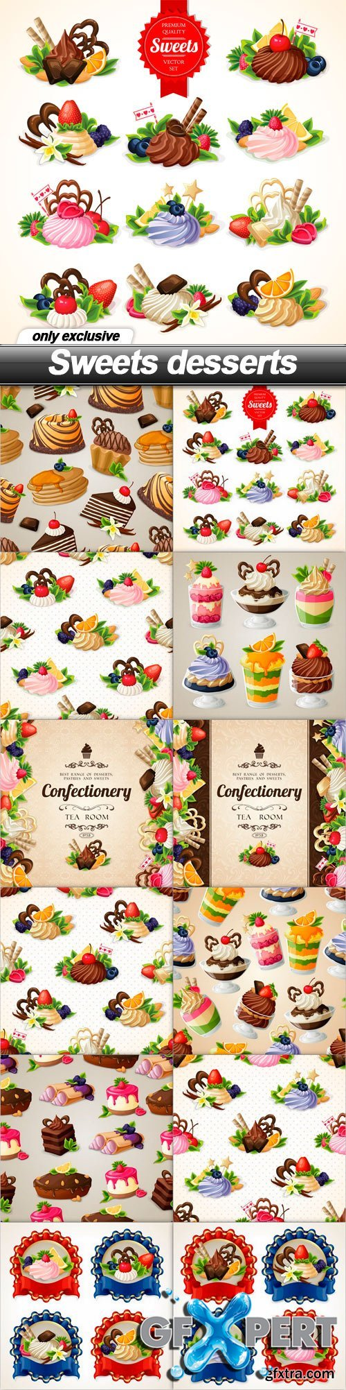 Sweets desserts - 12 EPS