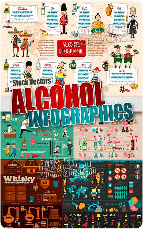 Alcohol infographic - Stock Vectors