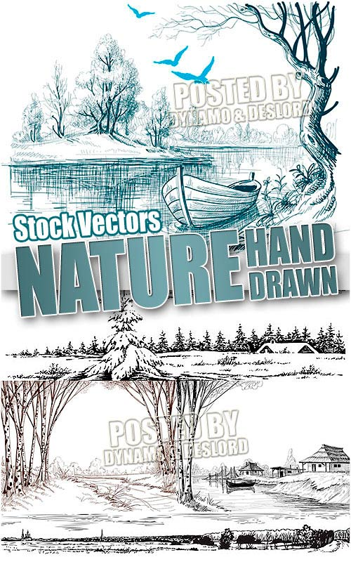 Nature hand drawn - Stock Vectors