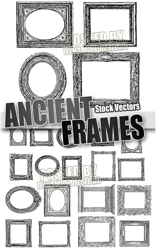Ancient frames - Stock Vectors