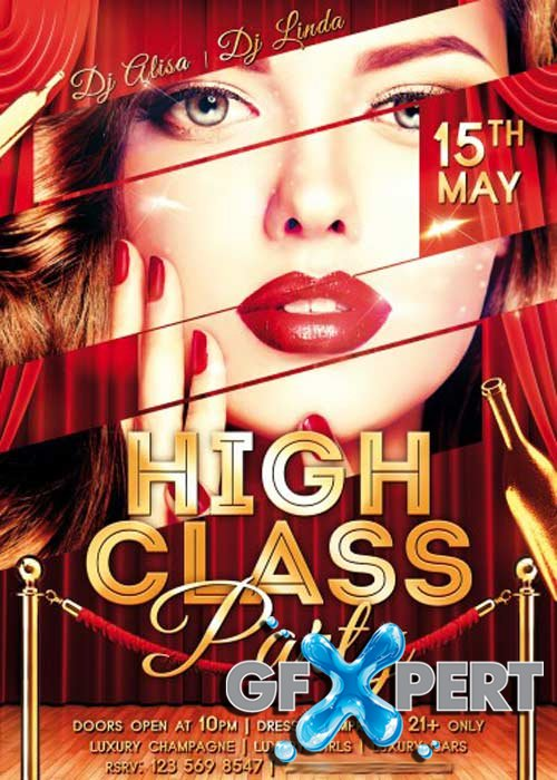 High Class Party PSD Flyer Template