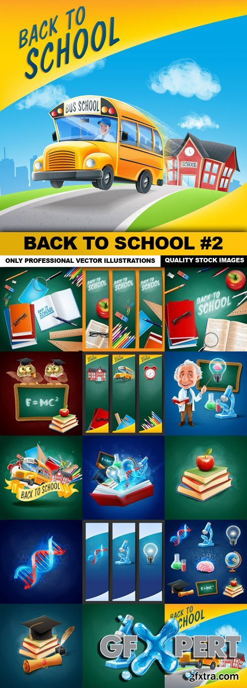 Back To School #2 - 15 Vector