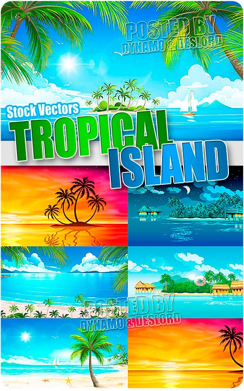 Tropical island - Stock Vectors