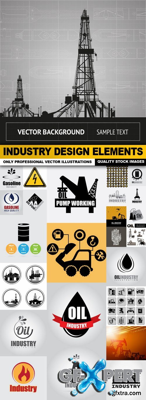 Industry Design Elements - 25 Vector