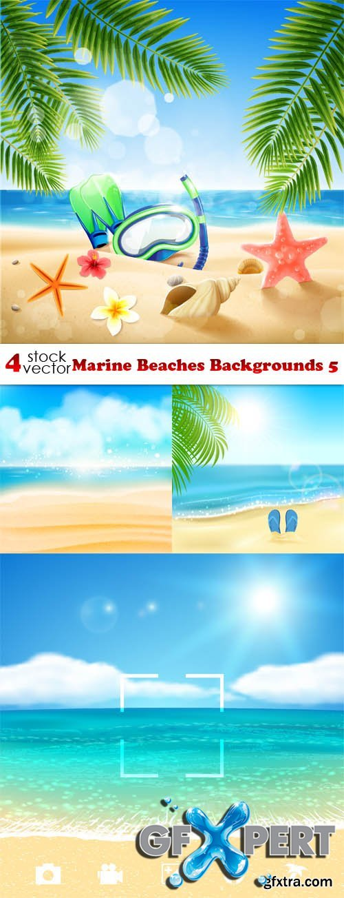 Vectors - Marine Beaches Backgrounds 5