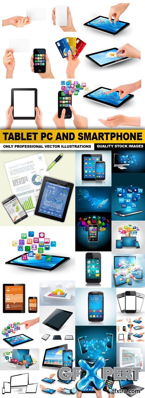 Tablet PC And Smartphone - 25 Vector