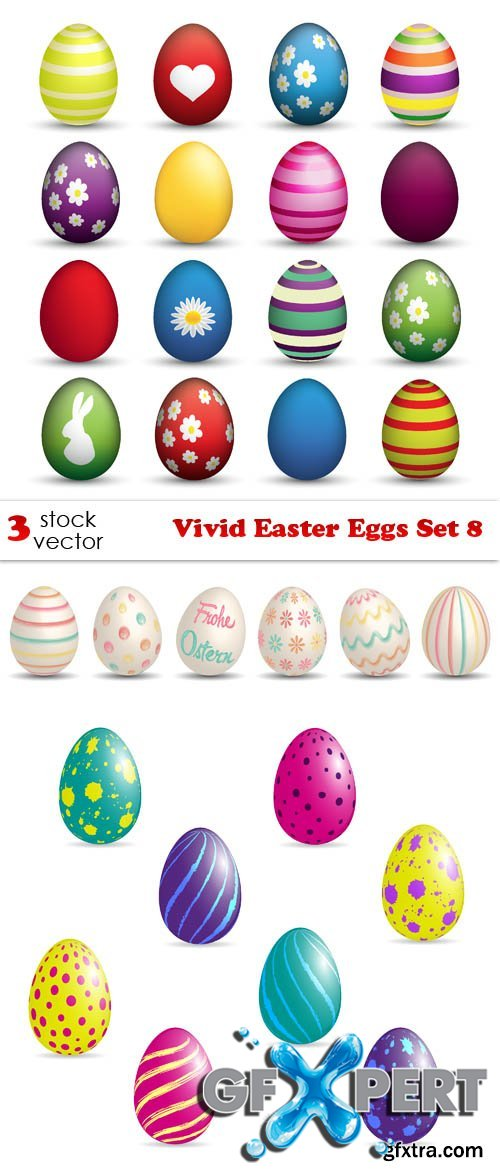 Vectors - Vivid Easter Eggs Set 8