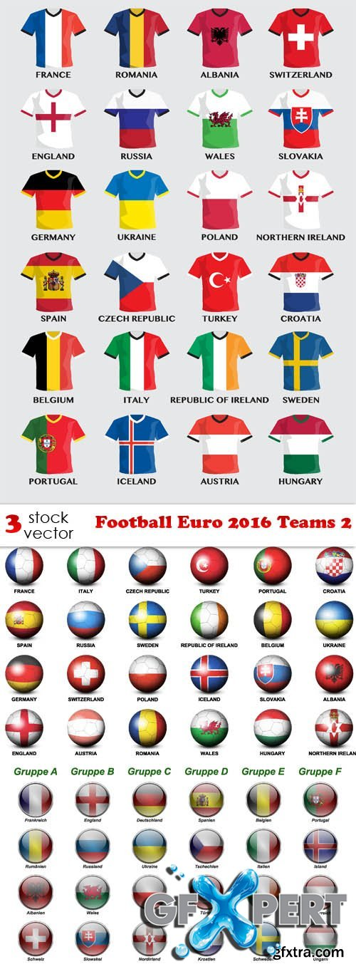Vectors - Football Euro 2016 Teams 2