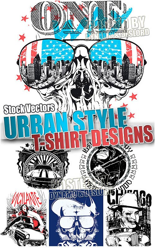 Urban style T-shirts - Stock Vectors