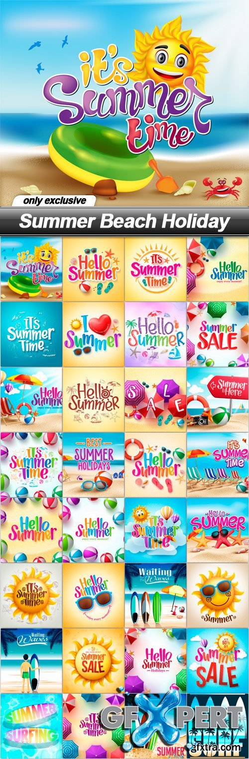 Summer Beach Holiday - 32 EPS