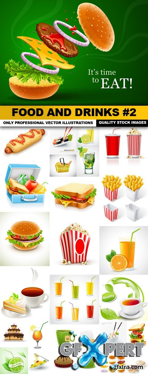 Food And Drinks #2 - 25 Vector