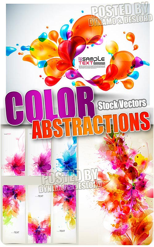 Color abstractions - Stock Vectors