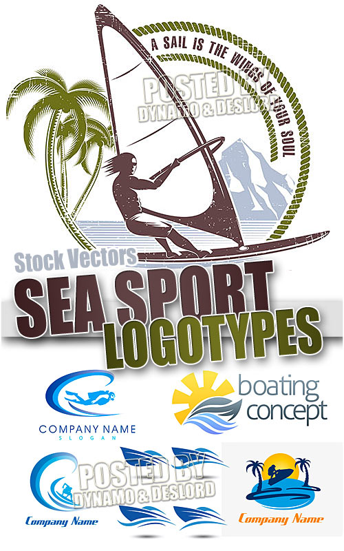 Sea sport logos - Stock Vectors