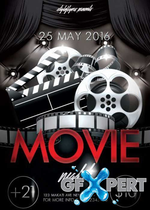 Free Movie Night V1 Psd Flyer Template Download