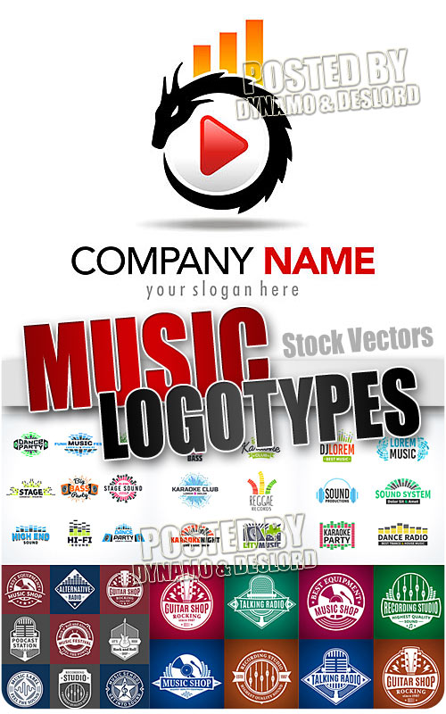 Music logotypes - Stock Vectors