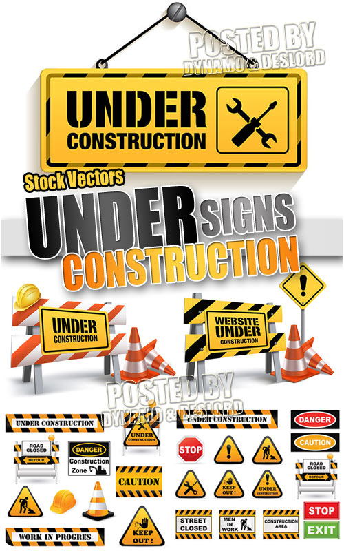 Under Construction Signs - Stock Vectors