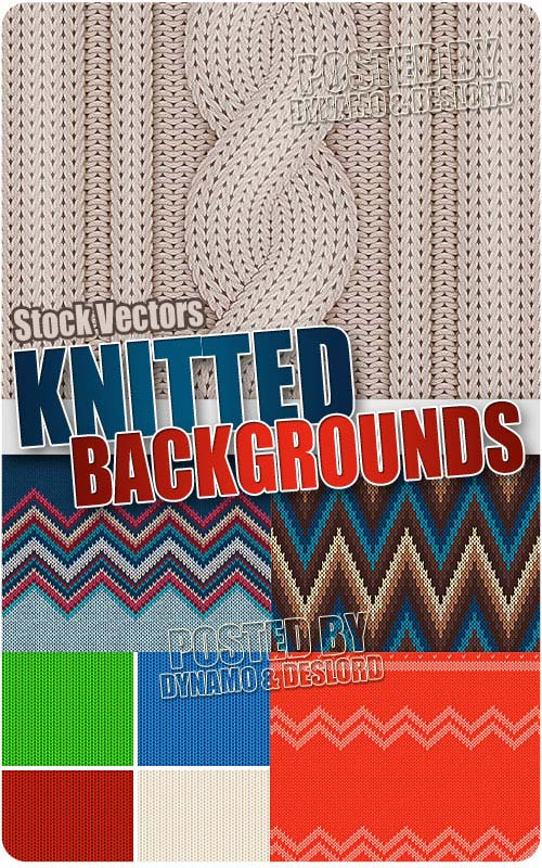 Knitted backgrounds - Stock Vectors