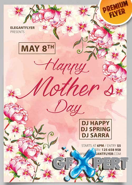 Mothers Day V3 PSD Flyer Template
