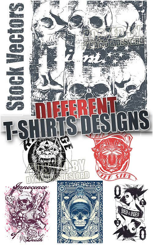 Different T-shirts design - Stock Vectors