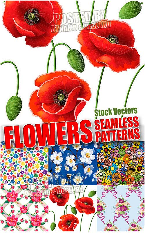 Flower seamless patterns - Stock Vectors