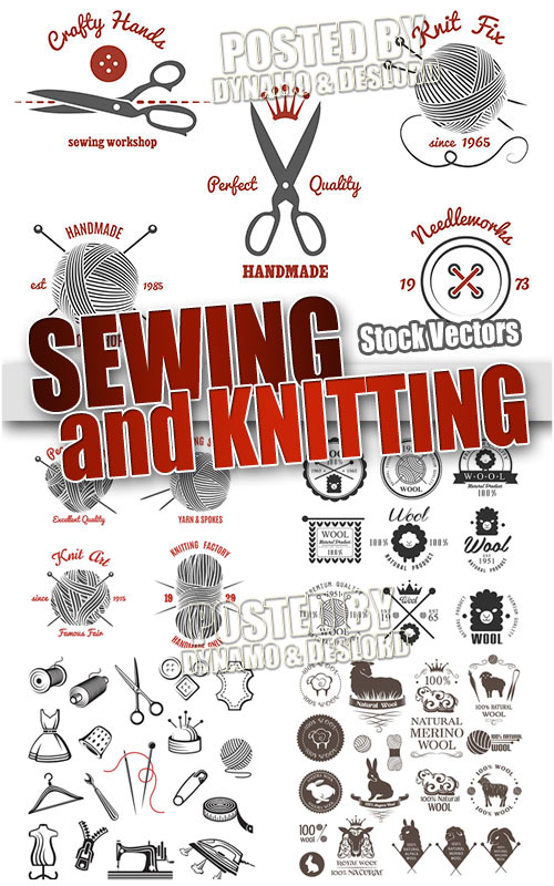 Sewing and knitting - Stock Vectors