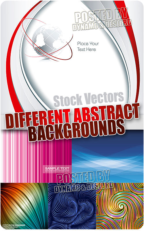 Different abstract backgrounds - Stock Vectors