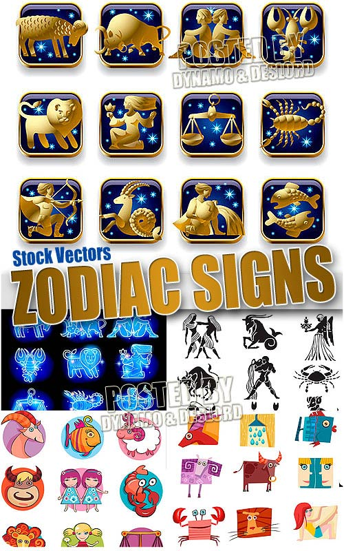Zodiac signs - Stock Vectors