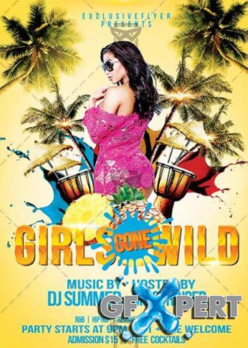 Girls Gone Wild Club and Party Flyer PSD Template