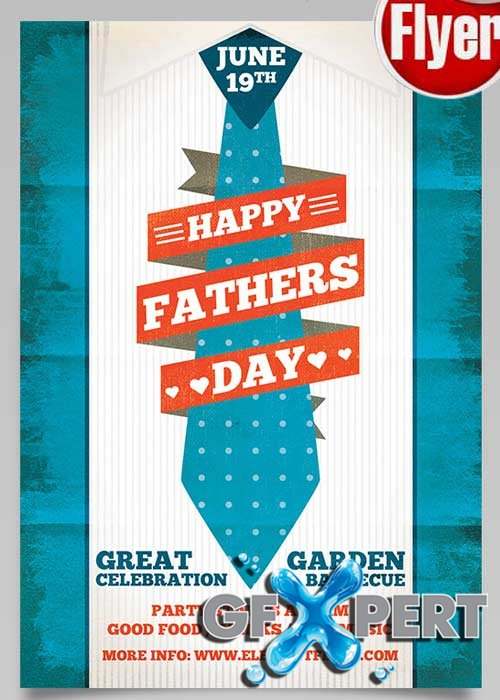 Fathers Day V3 Flyer PSD Template + Facebook Cover